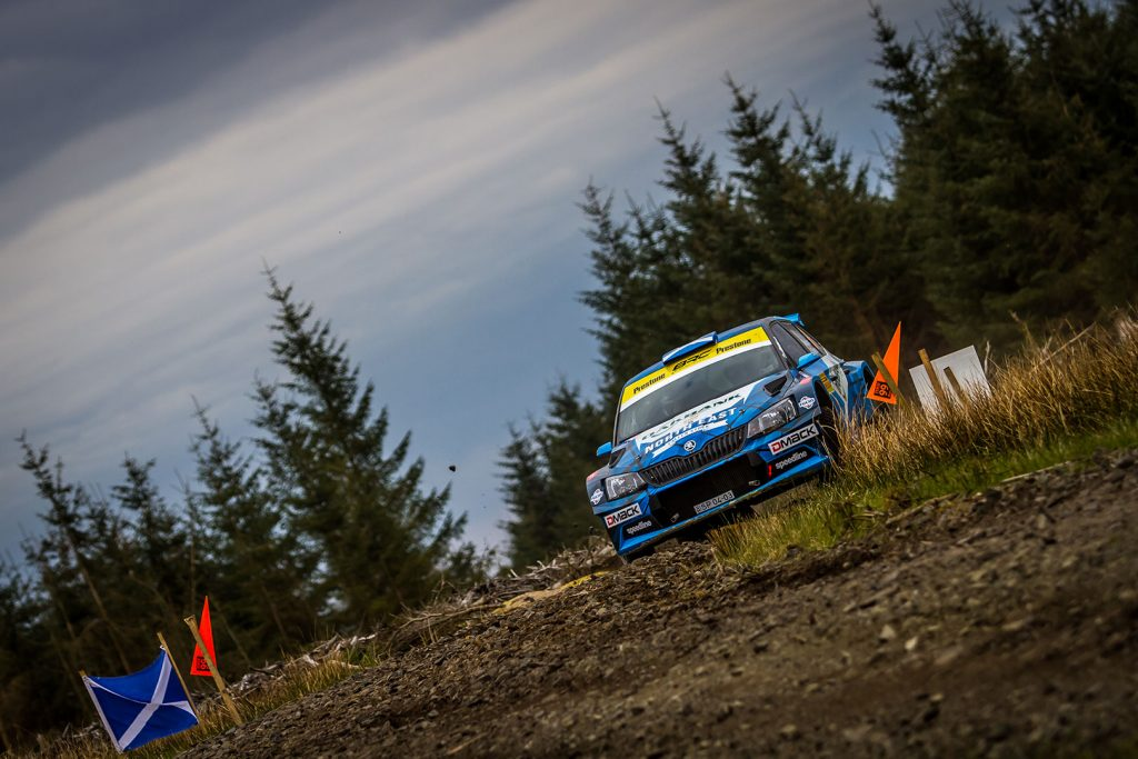 David Bogie / Kevin Rae, ŠKODA FABIA R5, CA1 Sport. Pirelli Rally 2017