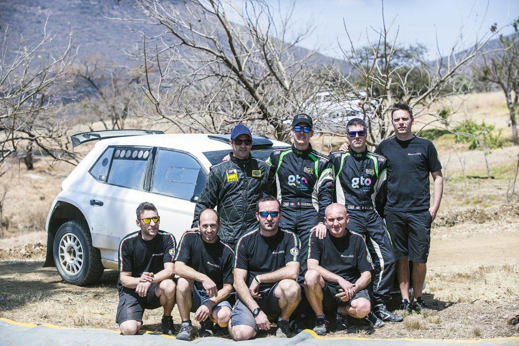 Benito Guerra jr. / Daniel Cué, ŠKODA FABIA R5, Motorsport Italia. Pre-event test Rally Argentina 2017