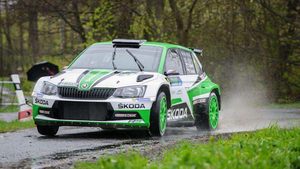 Jan Kopecký / Pavel Dresler, ŠKODA FABIA R5, ŠKODA Motorsport. Rallye Šumava Klatovy 2017