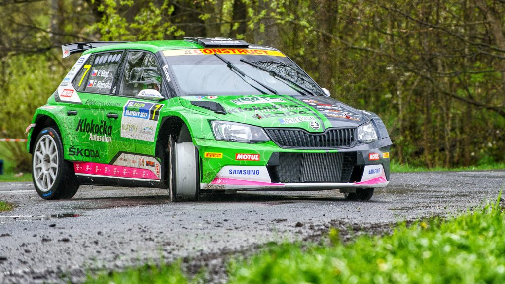 Vojtěch Štajf / František Rajnoha, ŠKODA FABIA R5, Klokočka ŠKODA Czech national team. Rallye Šumava Klatovy 2017
