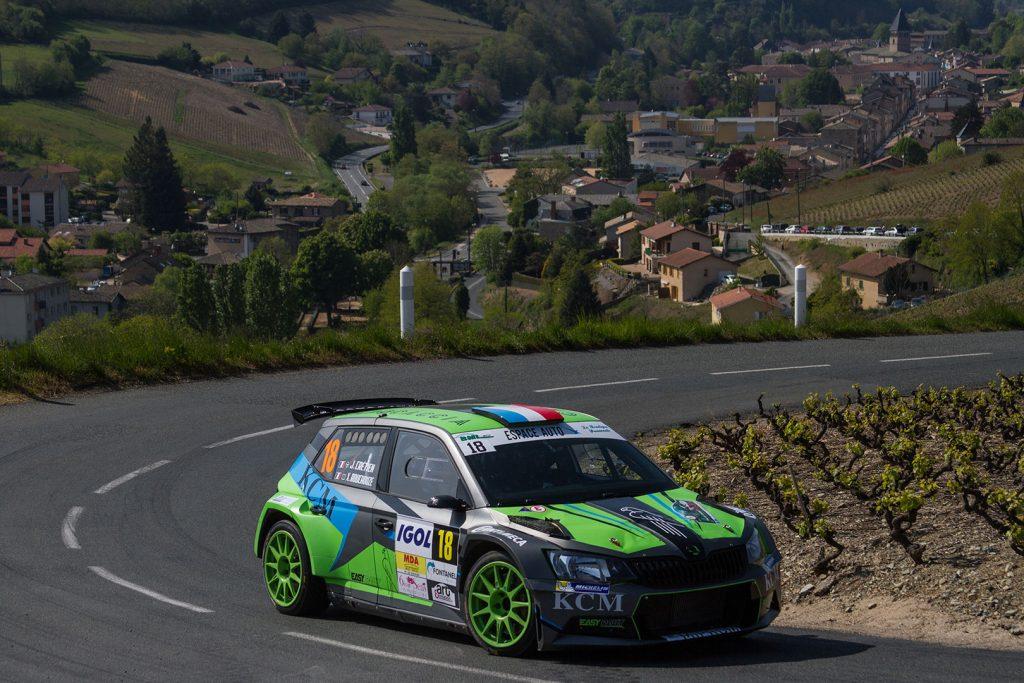 Jérémy Cretien / Xavier Rouchouze, ŠKODA FABIA R5, Jérémy Cretien. Rallye Lyon-Charbonnières – Rhône 2017
