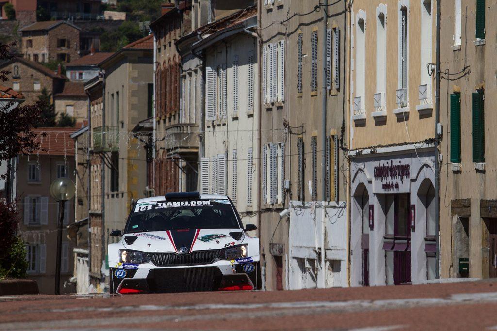 Fabrice Bect / Arnaud Michal, ŠKODA FABIA R5, Team FJ. Rallye Lyon-Charbonnières – Rhône 2017