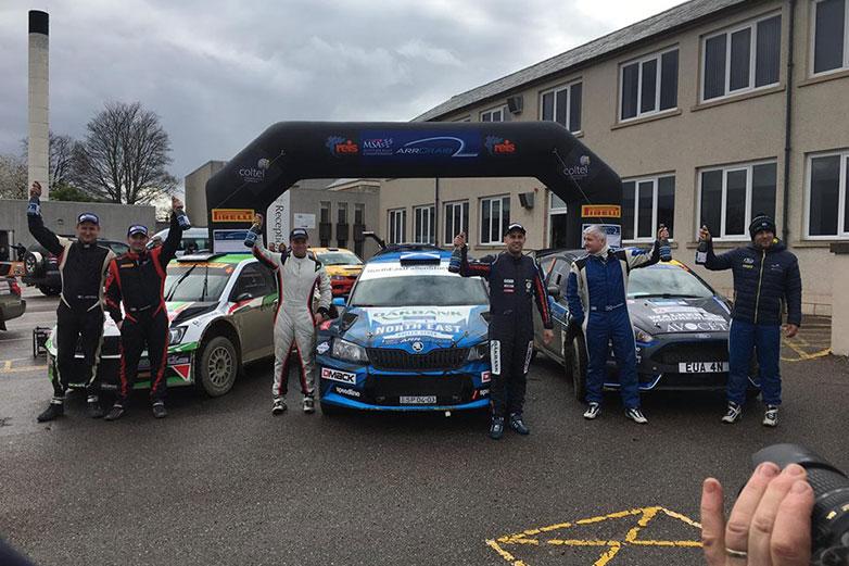Desi Henry / Liam Moynihan, David Bogie / Andrew Roughead, ŠKODA FABIA R5, Euan Thorburn / Paul Beaton, Ford Fiesta R5. Speyside Stages Rally 2017