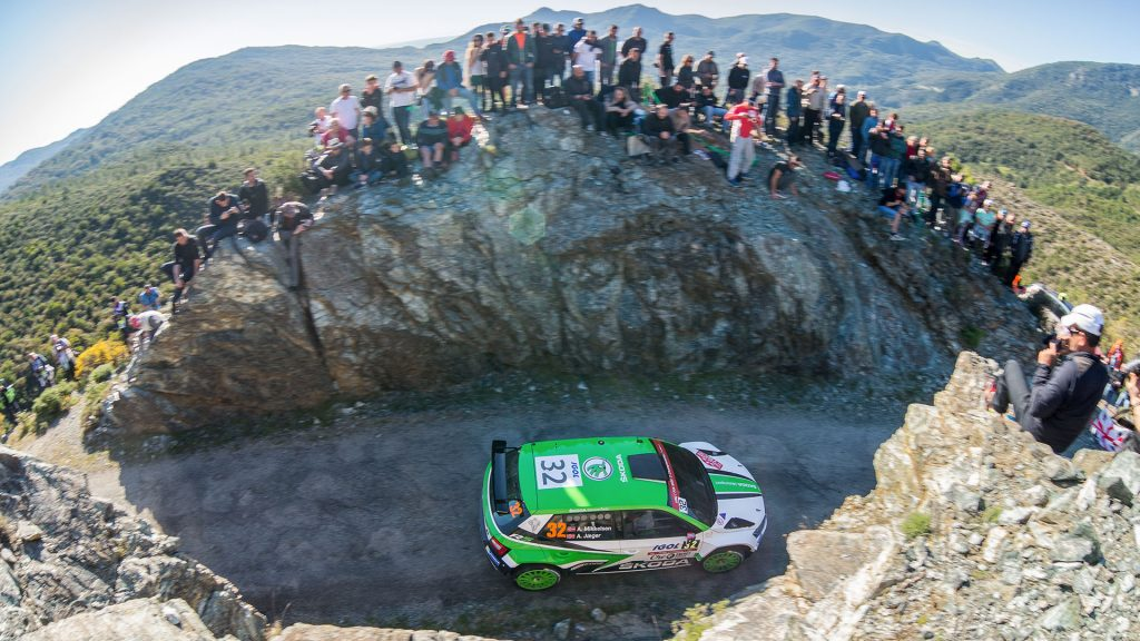 Andreas Mikkelsen / Anders Jæger, ŠKODA FABIA R5, ŠKODA Motorsport. Tour de Corse 2017