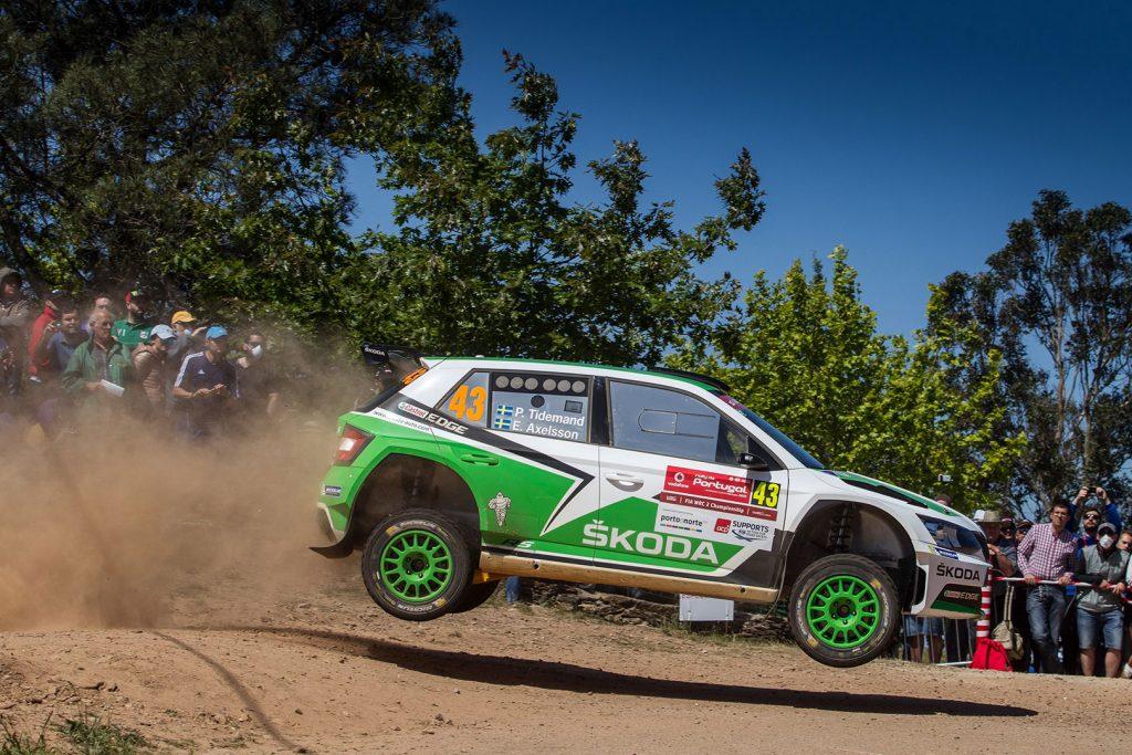 Pontus Tidemand / Emil Axelsson, ŠKODA FABIA R5, ŠKODA Motorsport. Rally de Portugal 2015
