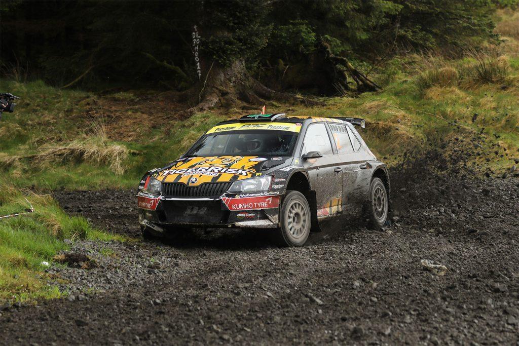 Martin McCormack / David Moynihan, ŠKODA FABIA R5, Martin McCormack. Donegal Forestry Rally 2017 (Photo: Ruaidhri Nash)