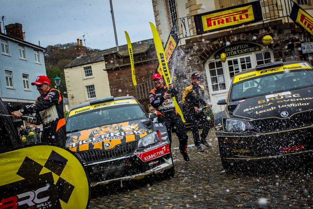 Fredrik Åhlin / Torstein Eriksen, Martin McCormack / David Moynihan, ŠKODA FABIA R5, CA1 Sport. Pirelli Rally 2017