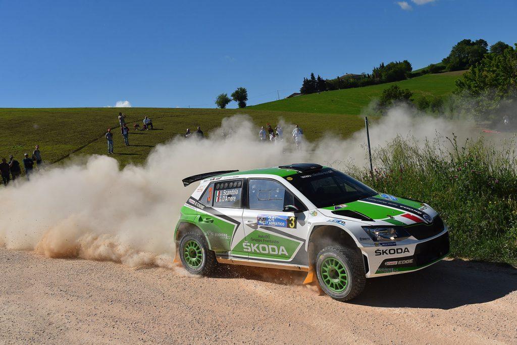Umberto Scandola / Guido D'Amore, ŠKODA FABIA R5, Car Racing. Rally Adriatico 2017