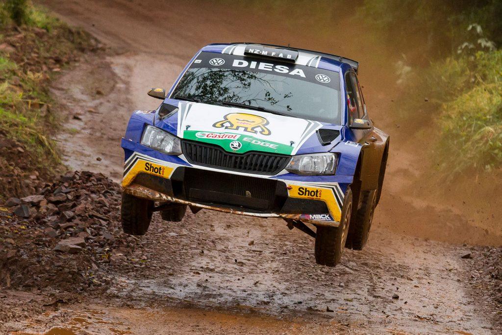 Miguel 'Miki' Zaldivar / Edgardo Galindo, ŠKODA FABIA R5, MZR Rally. Rally de Erechim 2017