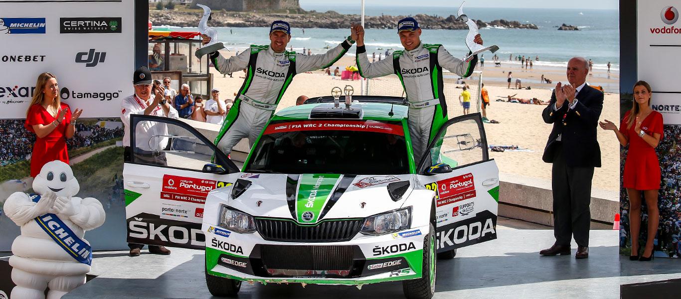 WRC Portugalsko: Vítězství pro Pontuse Tidemanda, drama v poslední minutě pro Andrease Mikkelsena