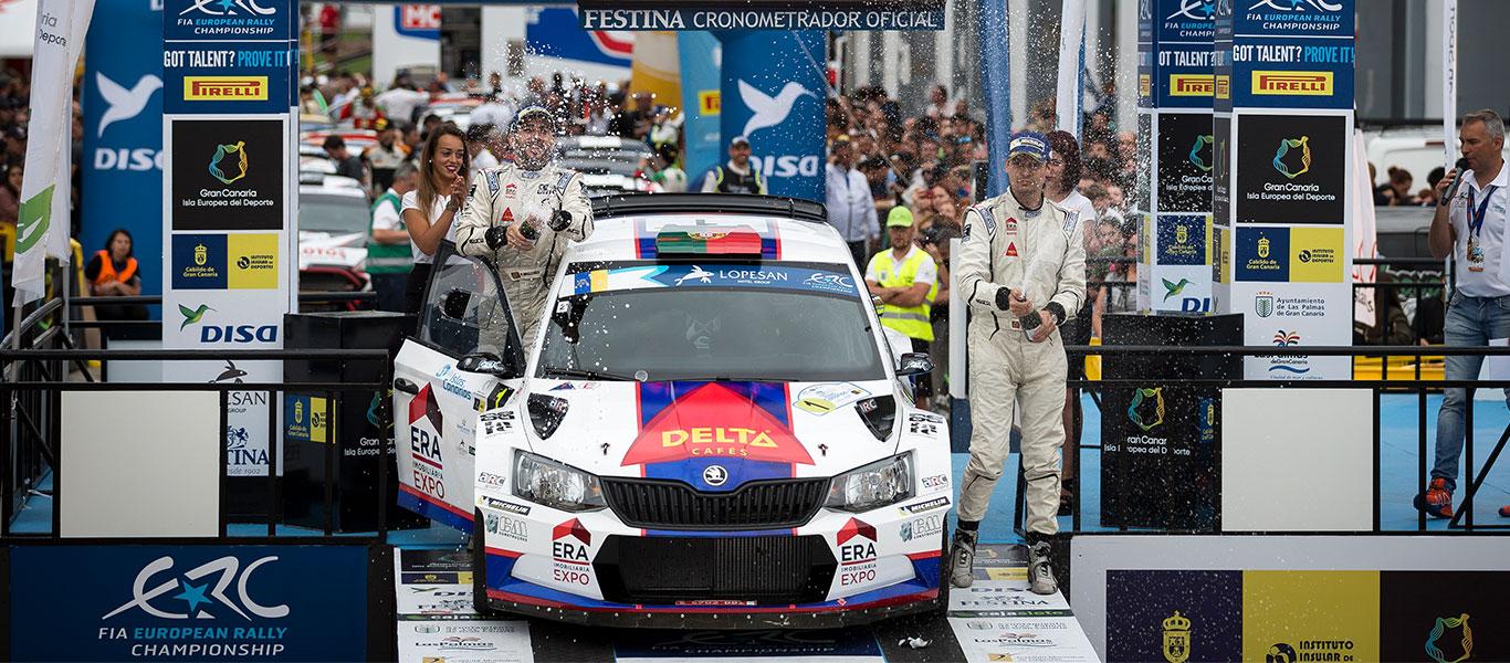 FOTO: Vozy ŠKODA FABIA R5 na Rally Islas Canarias 2017