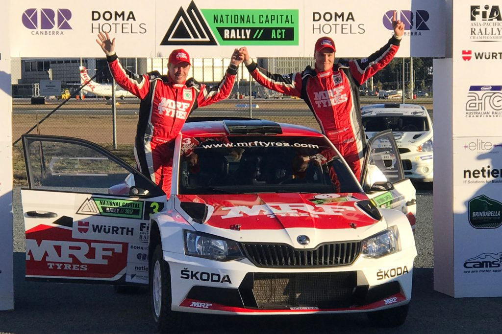 Ole Christian Veiby / Stig Skjarmoen, ŠKODA FABIA R5, ŠKODA Team MRF. Rally of Canberra 2017