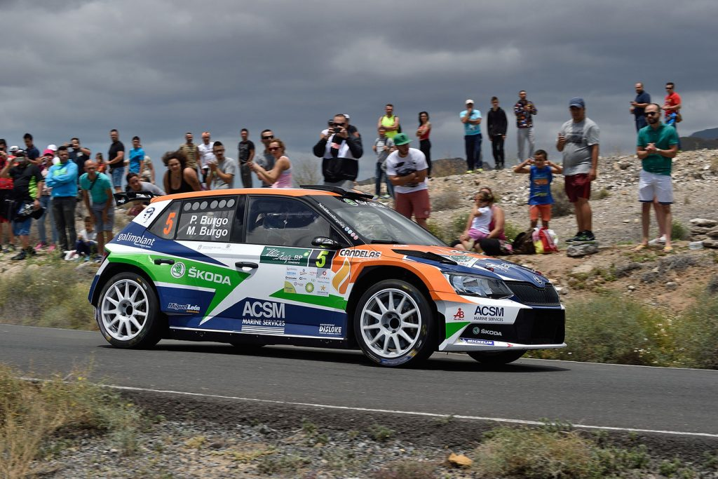 Pedro Burgo / Marcos Burgo, ŠKODA FABIA R5, ACSM Rallye Team. Rally Villa de Adeje 2017