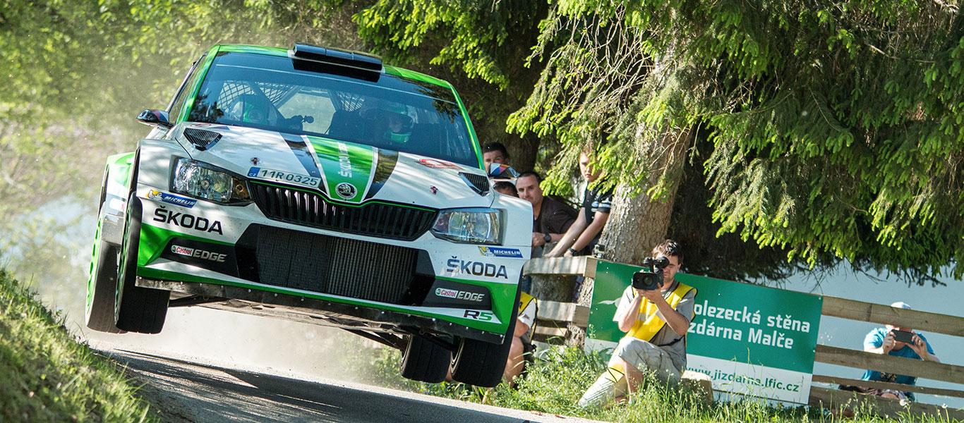 FOTO: Vozy ŠKODA FABIA R5 na Rallye Český Krumlov 2017