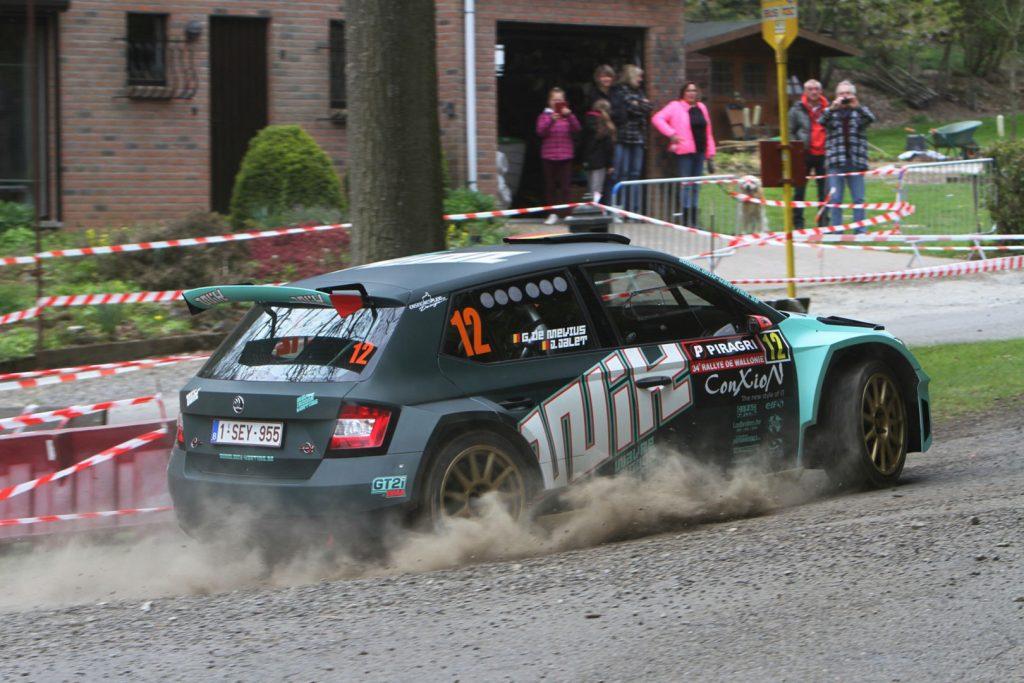 Ghislain de Mevius / Johan Jalet, ŠKODA FABIA R5, Ghislain de Mevius. Rallye de Wallonie 2017 (Photo: BRC Media)