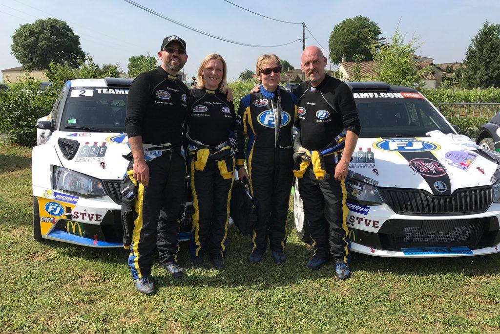 Jérôme Galpin / Anne Galpin, Jean Galpin / Françoise Galpin, ŠKODA FABIA R5, Team FJ. Rallye National du Saint-Emilion 2017