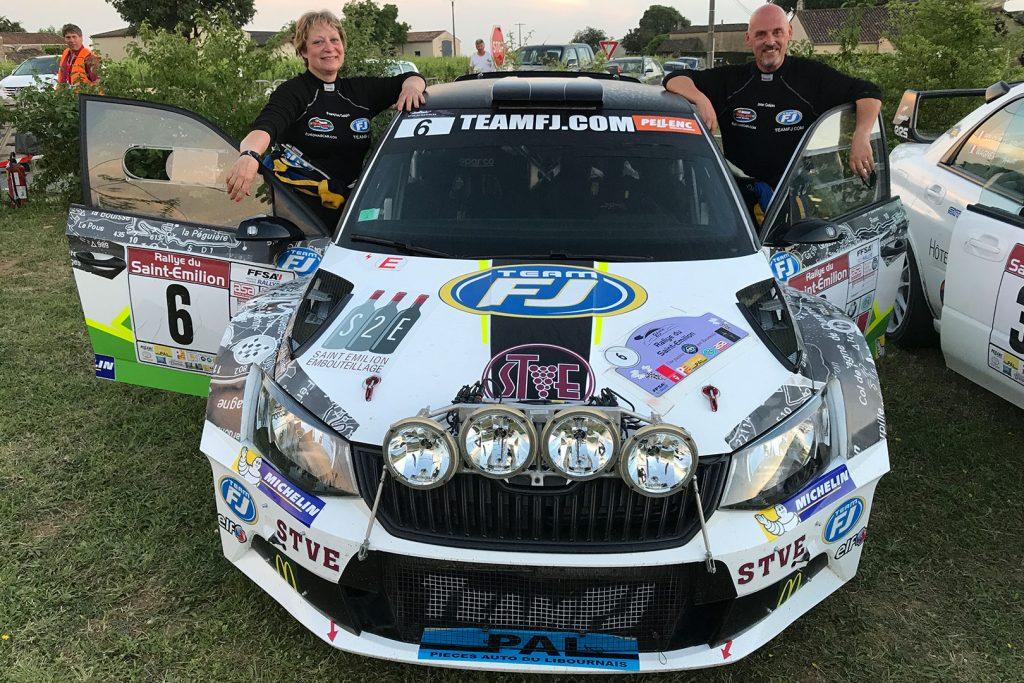 Jean Galpin / Françoise Galpin, ŠKODA FABIA R5, Team FJ. Rallye National du Saint-Emilion 2017
