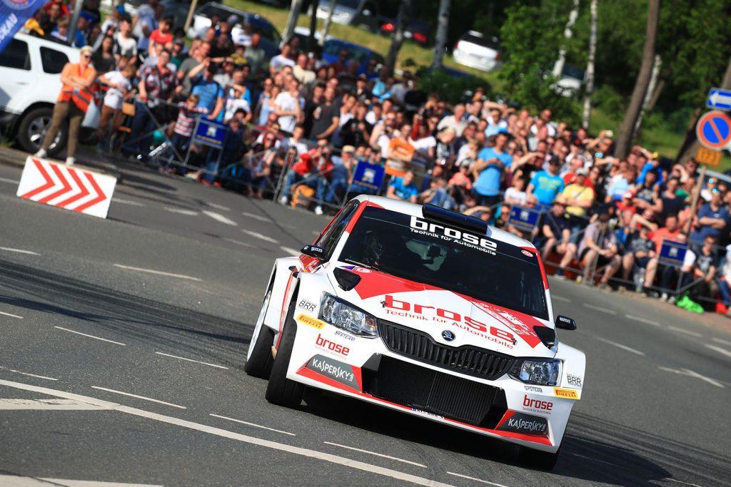 Dominik Dinkel / Christina Kohl, ŠKODA FABIA R5, Brose Motorsport. Sachsen Rallye 2017