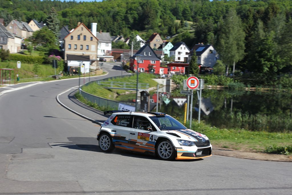 Sandro Wallenwein / Markus Poschner, ŠKODA FABIA R5, race:pro motorsport. Sachsen Rallye 2017