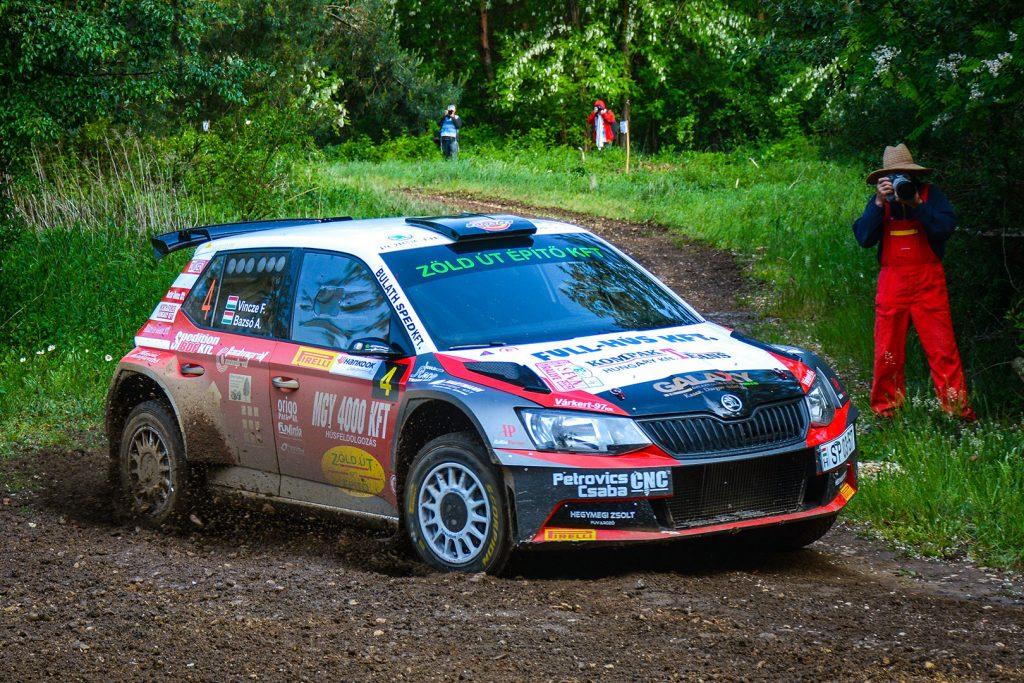 Ferenc Vincze jun. / Attila Bazsó, ŠKODA FABIA R5, S-Motorsport SE. Szombathely Rallye 2017