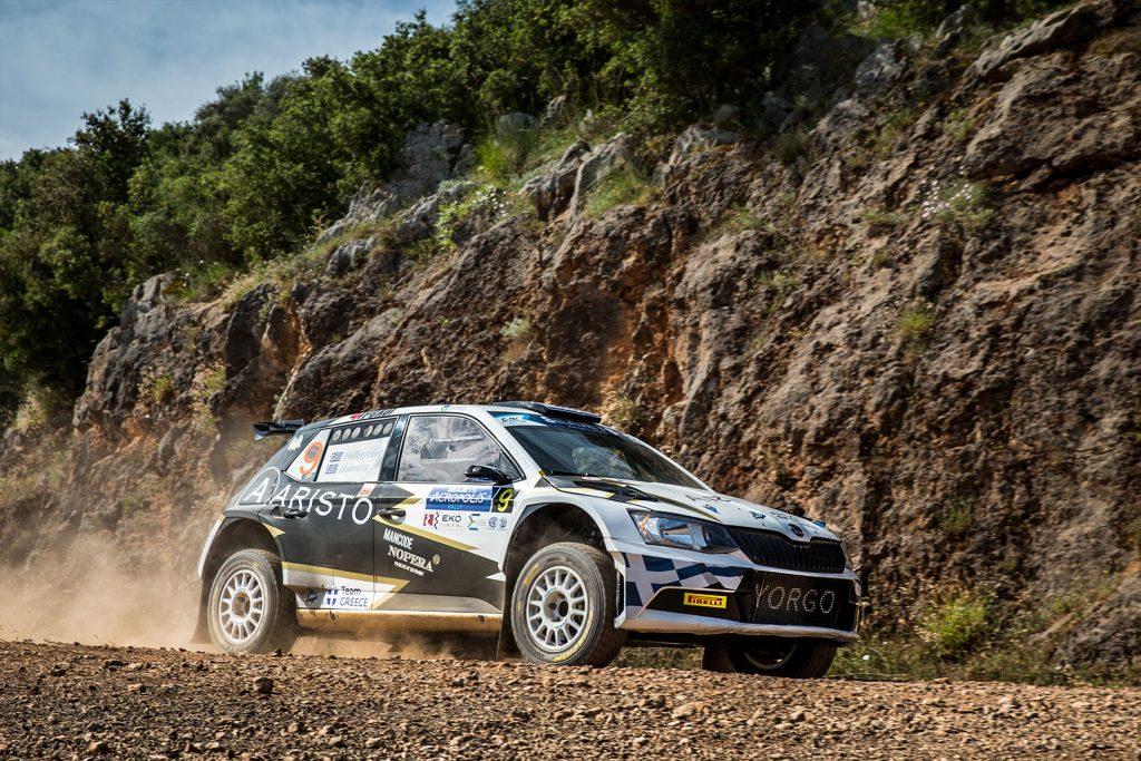 Yorgo Philippedes / Leonidas Mahaeras, ŠKODA FABIA R5, Team Greece. Acropolis Rally 2017