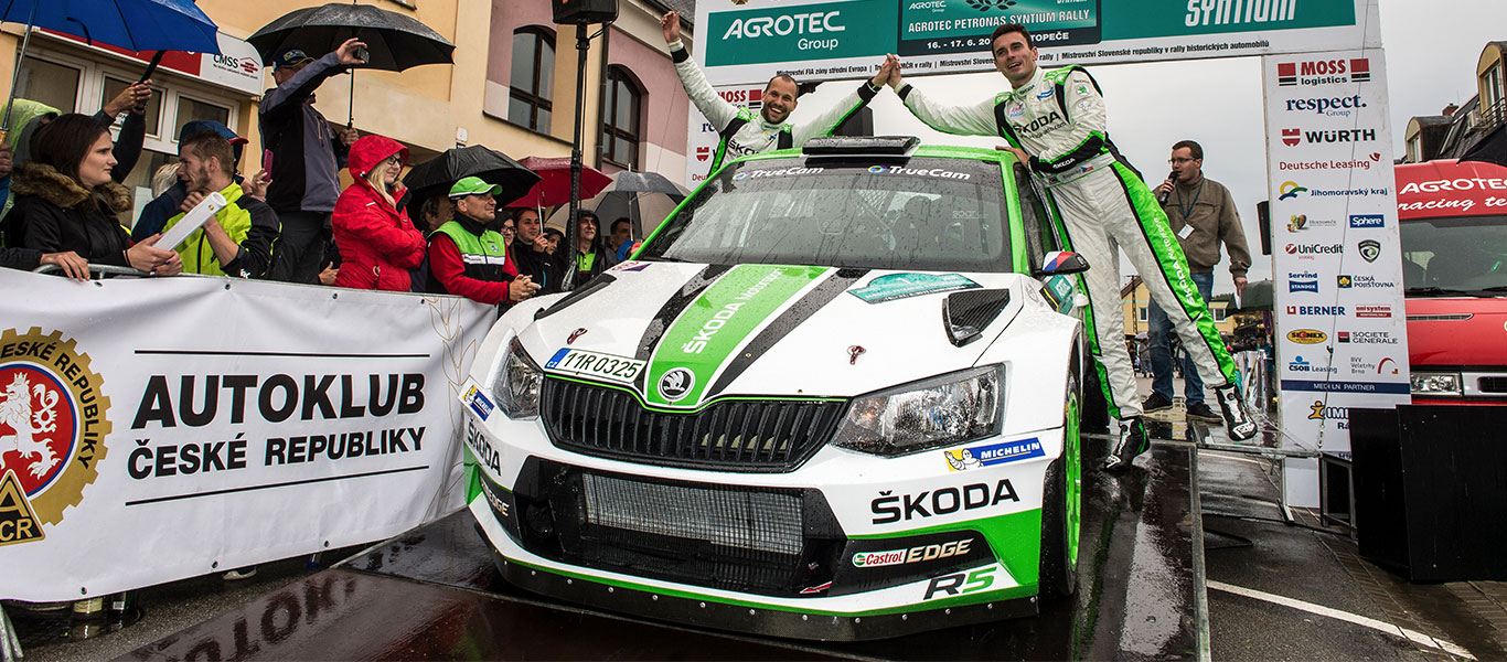 MČR Hustopeče: Jan Kopecký / Pavel Dresler scored fourth win in a row in the Czech Rally Championship