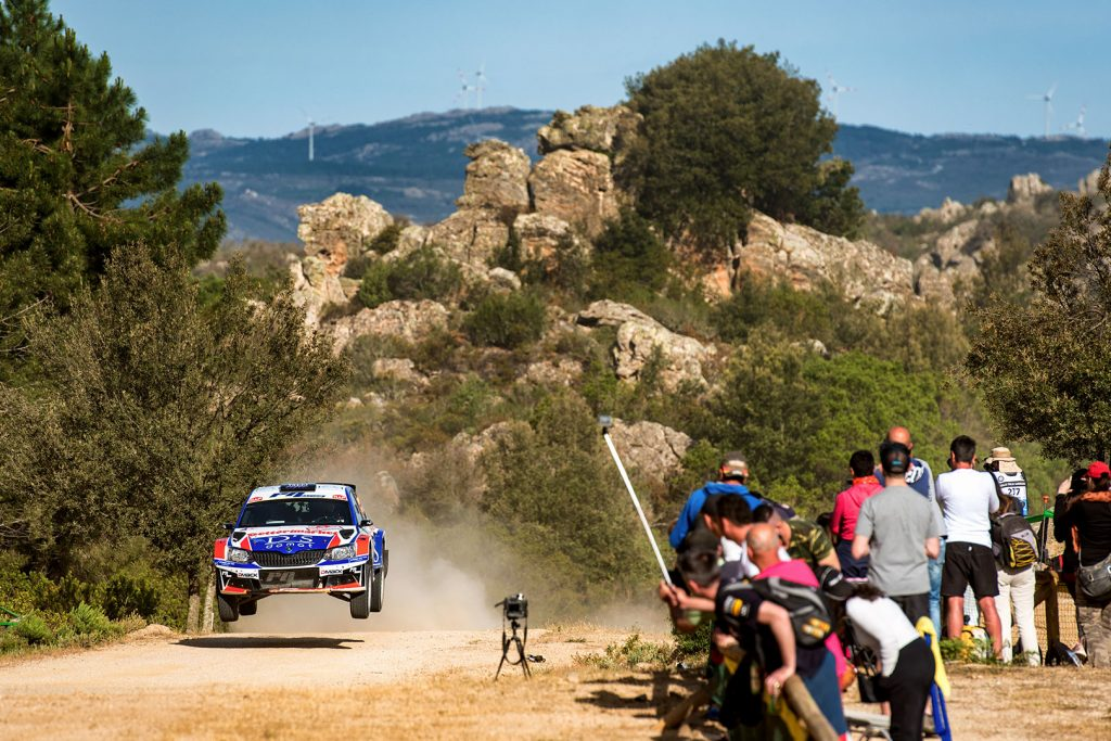 Giuseppe Dettori / Carlo Pisano, ŠKODA FABIA R5, Giuseppe Dettori. Rally Italia Sardegna 2017