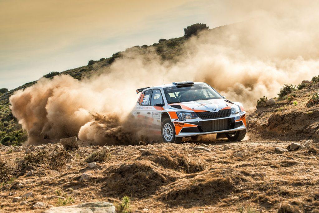 Kees Burger / Mikko Lukka, ŠKODA FABIA R5, Kees Burger. Rally Italia Sardegna 2017