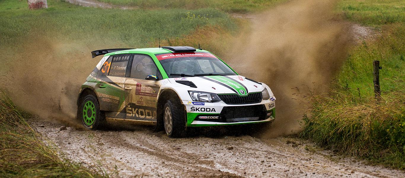 WRC Polsko: Dvojité vedení pro značku ŠKODA ve WRC2