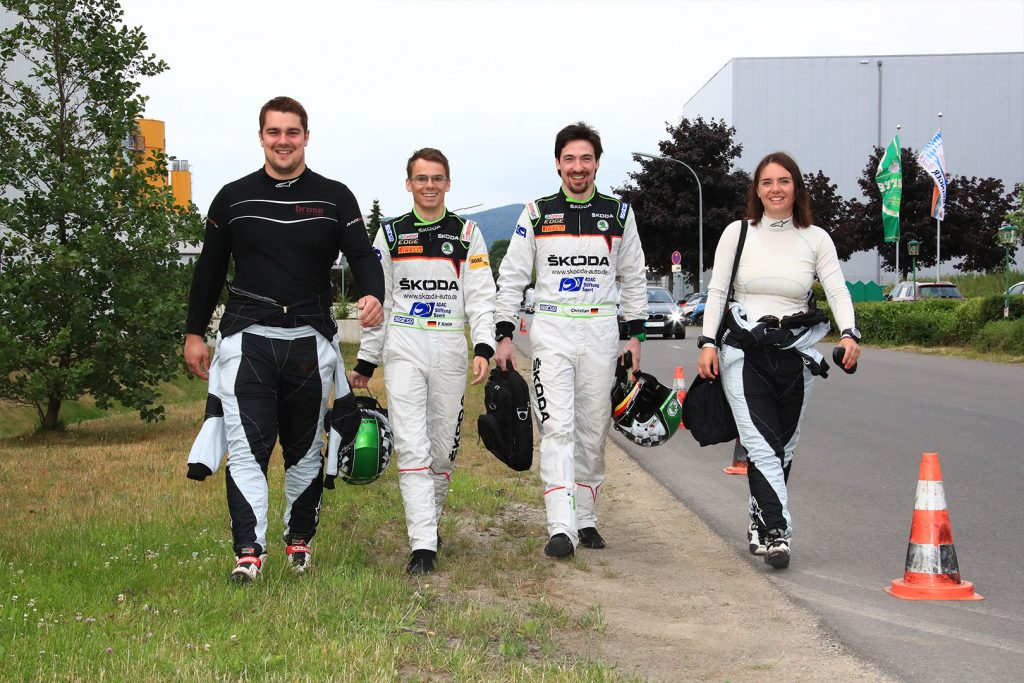 Dominik Dinkel, Fabian Kreim, Frank Christian, Christina Kohl, ŠKODA FABIA R5. Rallye Stemweder Berg 2017