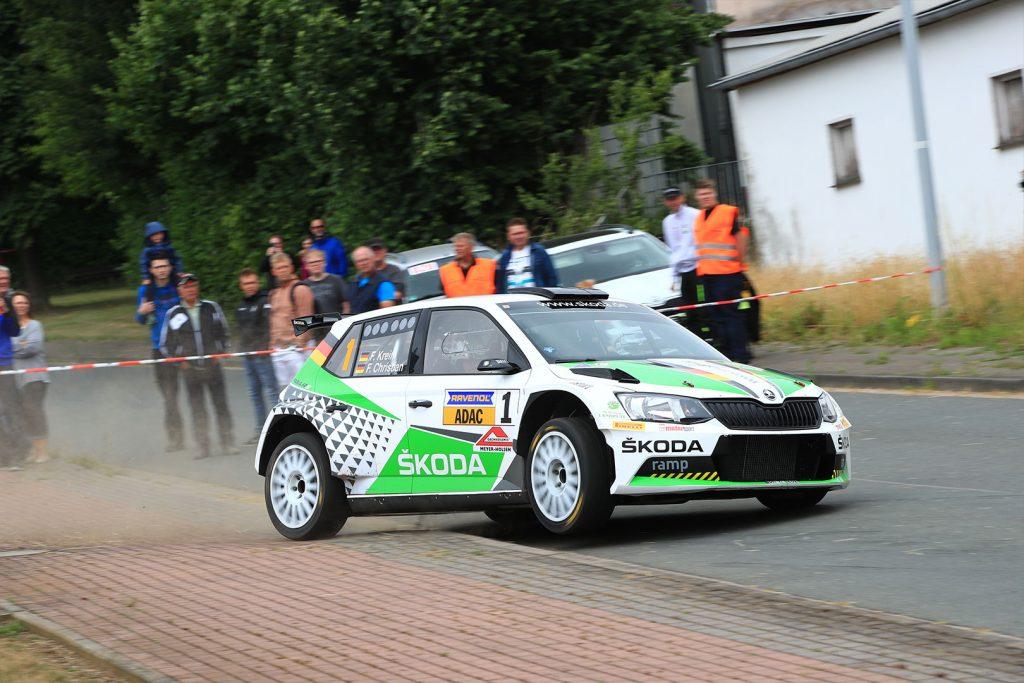 Fabian Kreim / Frank Christian, ŠKODA FABIA R5, ŠKODA AUTO Deutschland. Rallye Stemweder Berg 2017