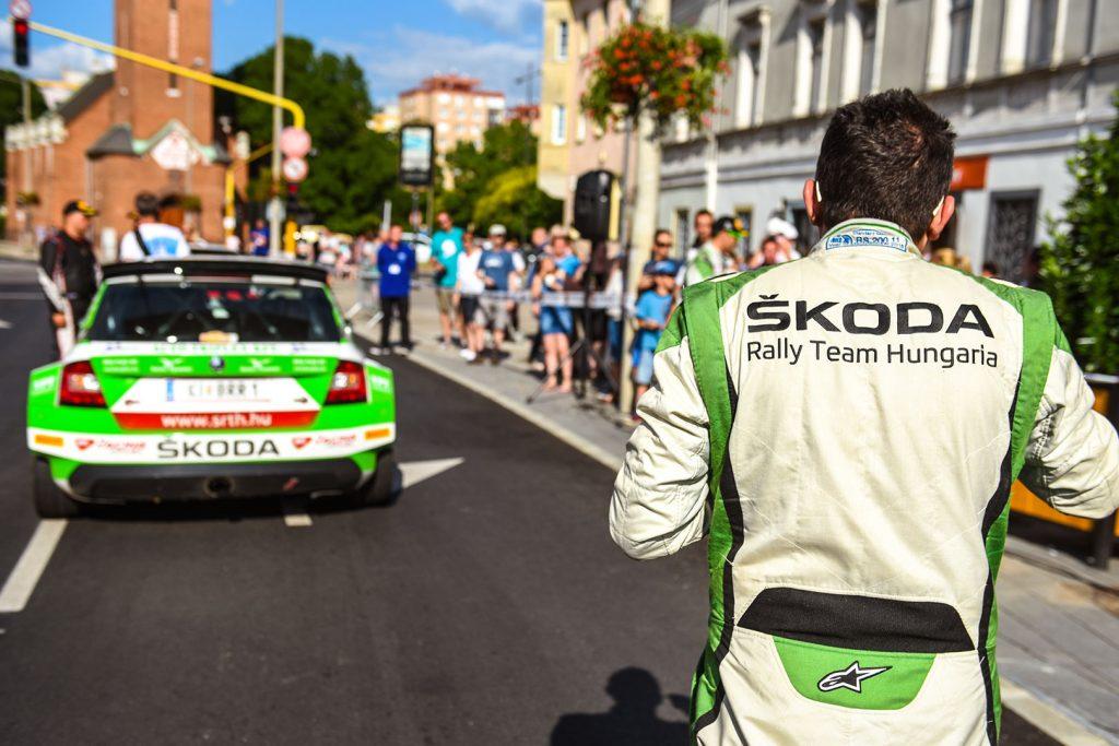 Norbert Herczig / Igor Bacigál, ŠKODA FABIA R5, ŠKODA Rally Team Hungaria. Székesfehérvár Rallye 2017