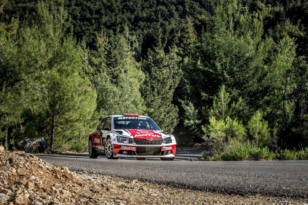 Roger Feghali / Joseph Matar, ŠKODA FABIA R5. Cedar's Rally 2017 (Photo: Biser3a.com / The Action Crew)