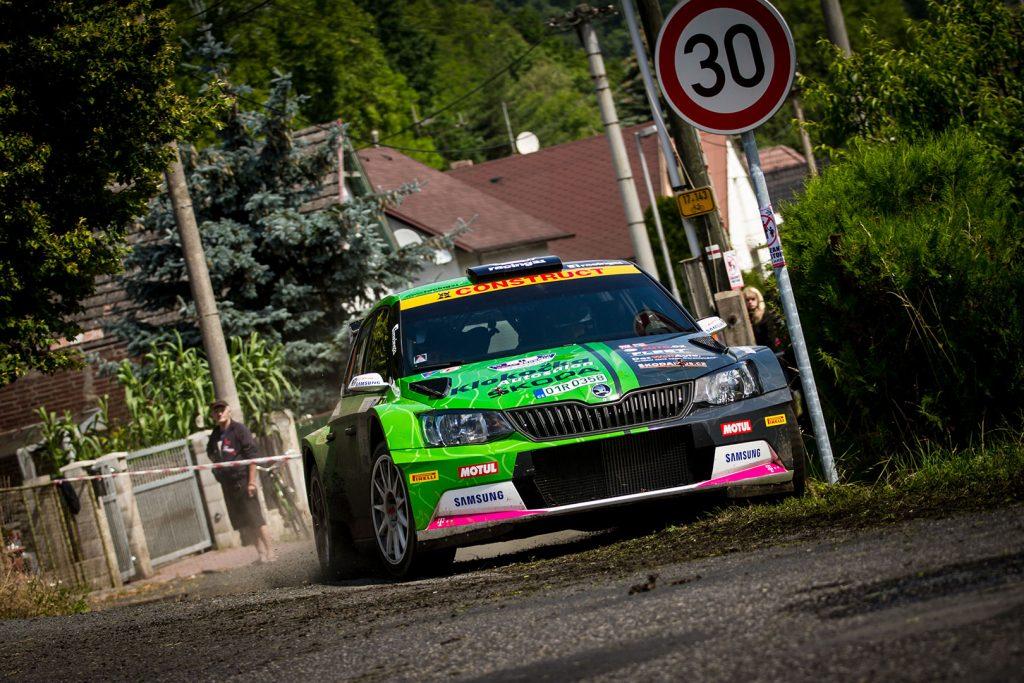 Vojtěch Štajf / František Rajnoha, ŠKODA FABIA R5, Klokočka ŠKODA Czech national team. Rally Bohemia 2017