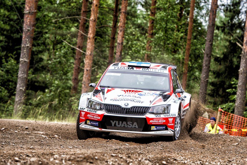Jukka Kasi / Henri Ania, ŠKODA FABIA R5. Rally Finland 2017