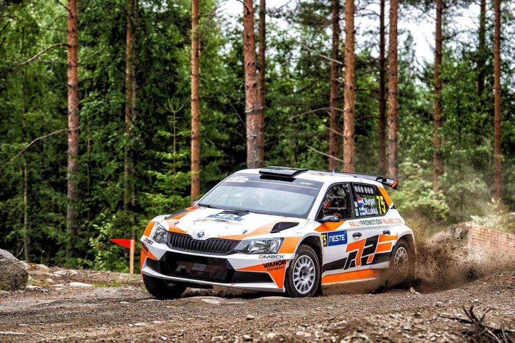 Kees Burger / Mikko Lukka, ŠKODA FABIA R5. Rally Finland 2017