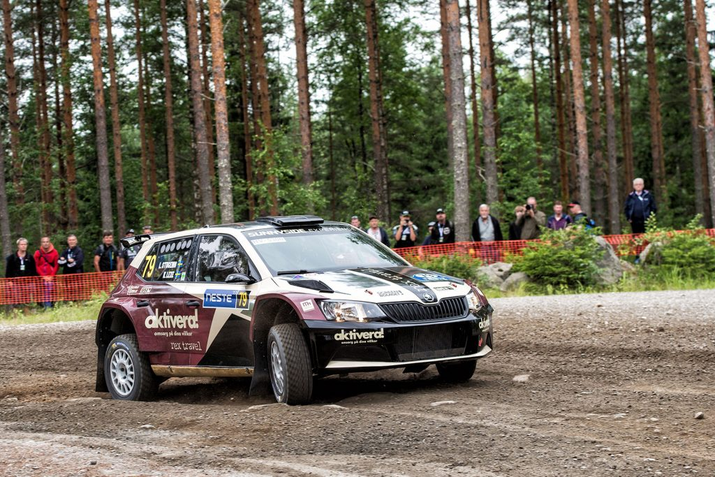 Lars Stugemo / Kalle Lexe, ŠKODA FABIA R5. Rally Finland 2017