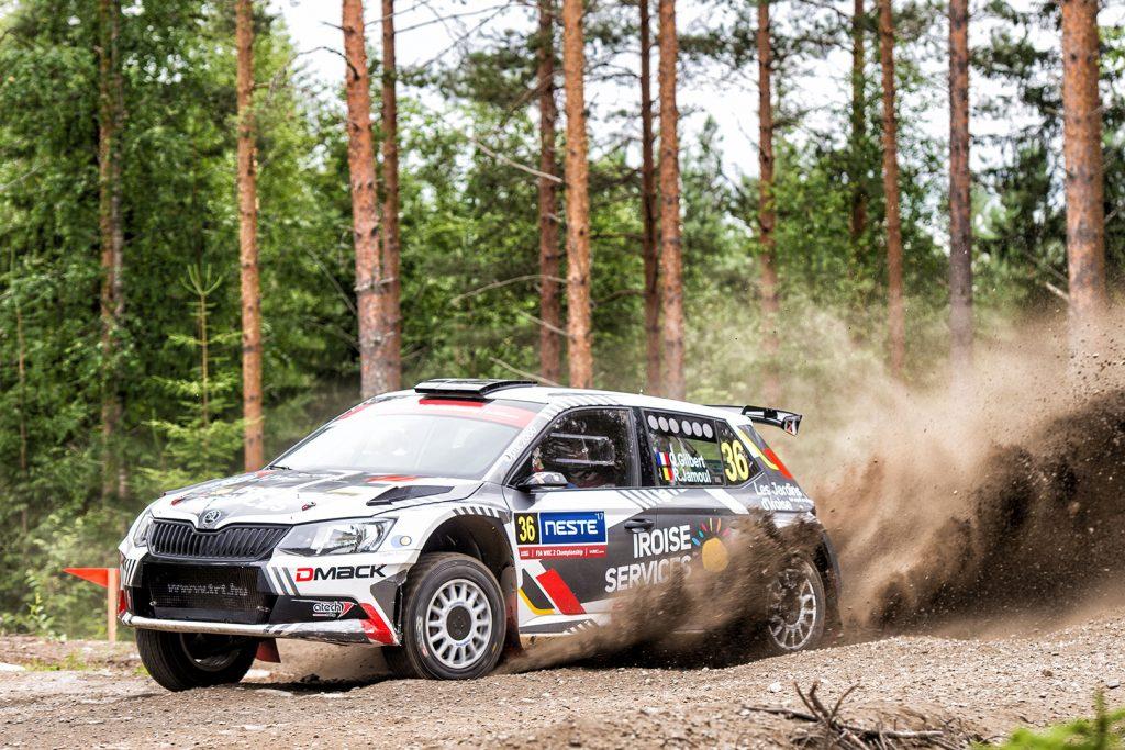 Quentin Gilbert / Renaud Jamoul, ŠKODA FABIA R5, Tagai Racing Technology. Rally Finland 2017