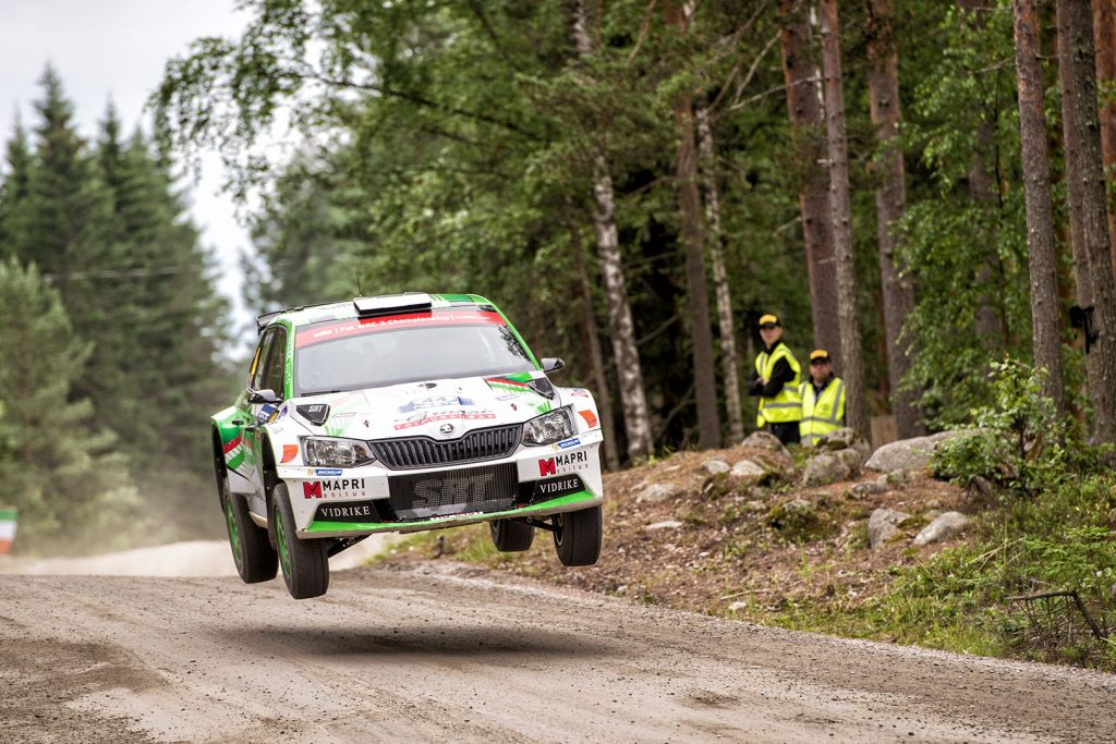 Raul Jeets / Kuldar Sikk, ŠKODA FABIA R5. Rally Finland 2017