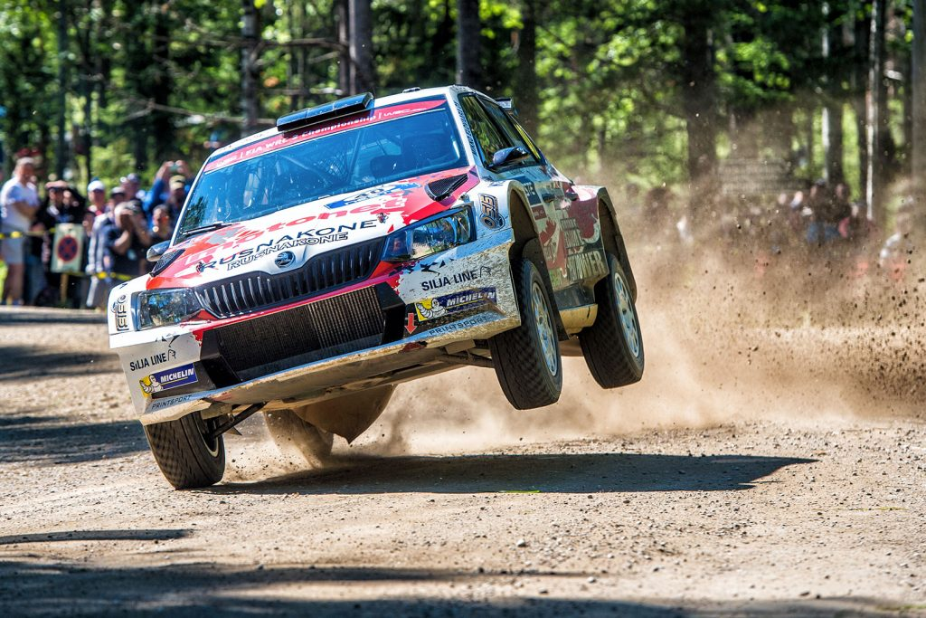 Jari Huttunen / Antti Linnaketo, ŠKODA FABIA R5, Printsport Oy. Rally Finland 2017