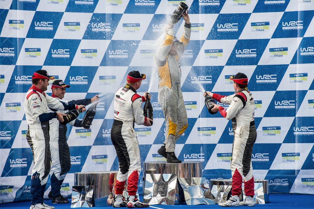 Jari Huttunen / Antti Linnaketo, Quentin Gilbert / Renaud Jamoul, Tom Cave / James Morgan. Rally Finland 2017