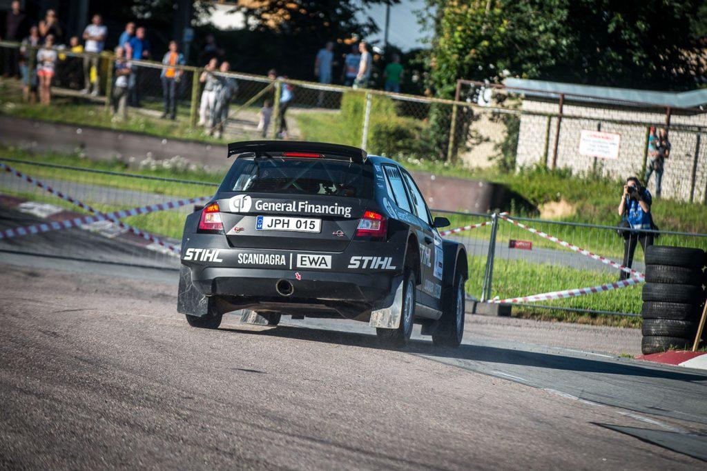 Benediktas Vanagas / Agnė Vičkačkaitė-Lauciuvienė, ŠKODA FABIA R5, General Financing team Pitlane. Rally Latvija 2017