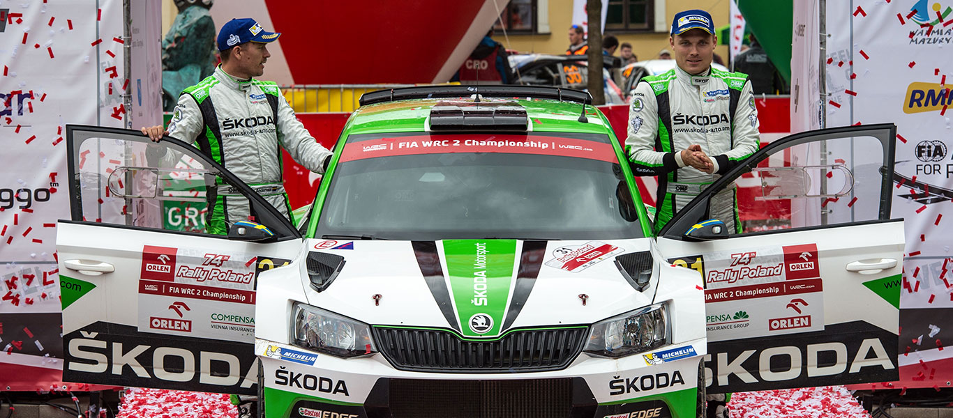 WRC Poland: Tidemand increases WRC2 lead, debut win for OC Veiby