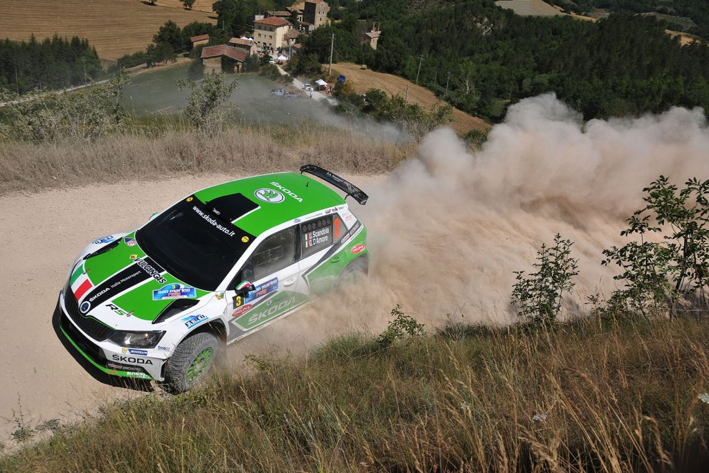Umberto Scandola / Guido D'Amore, ŠKODA FABIA R5, Car Racing. Rally San Marino 2017