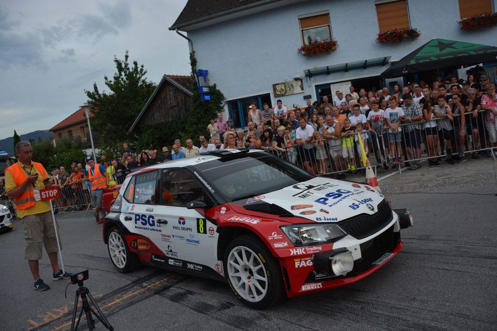 Antonín Tlusťák / Ivo Vybíral, ŠKODA FABIA R5, Tlusťák Racing. Rallye Weiz 2017