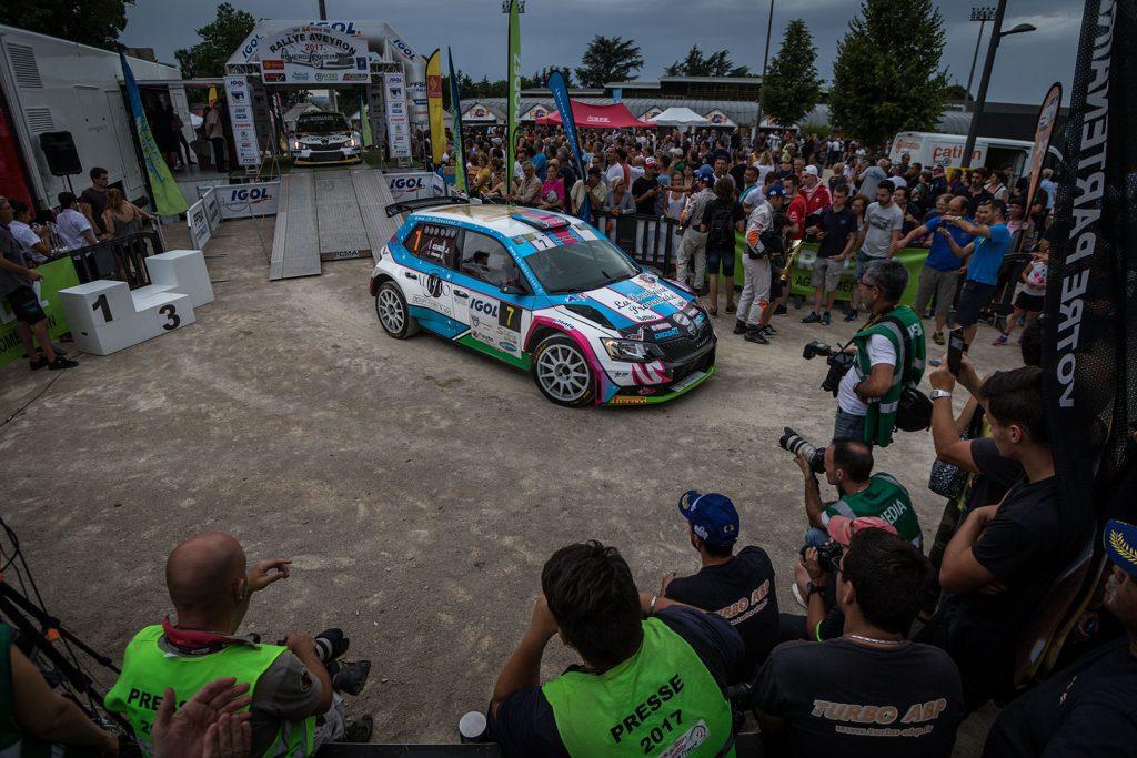 Anthony Puppo / Jérémy Cenci, ŠKODA FABIA R5, Anthony Puppo. Rallye Aveyron Rouergue – Occitanie 2017