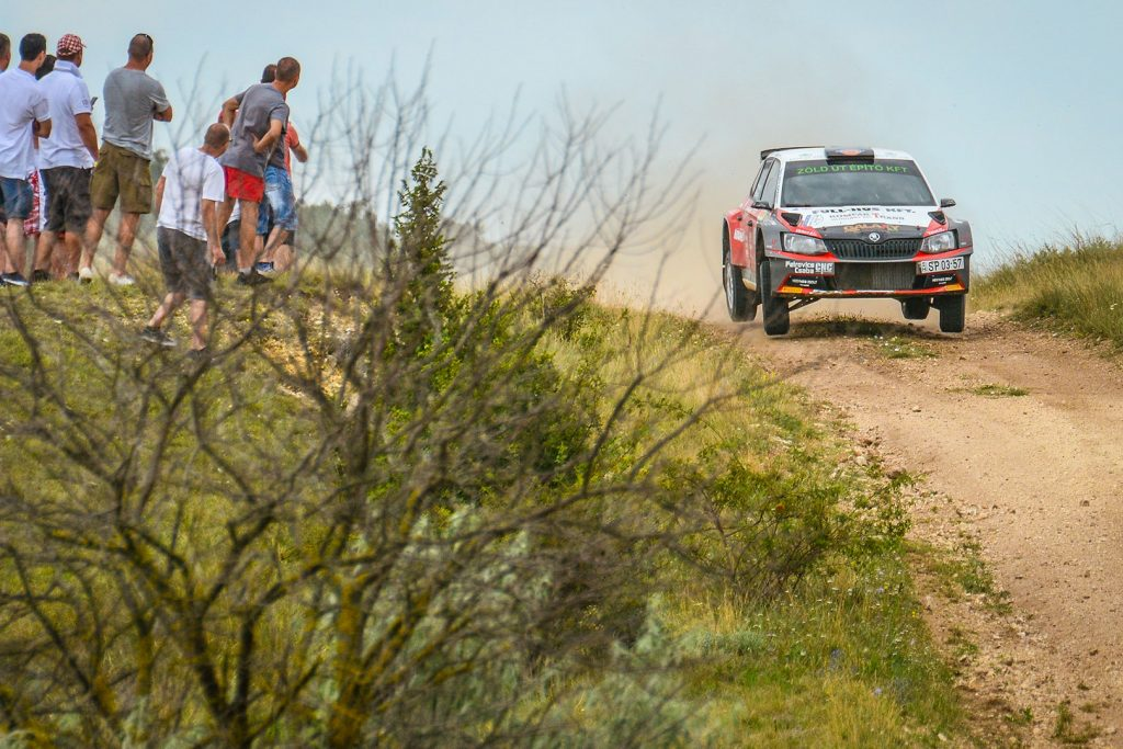 Ferenc Vincze jun. / Attila Bazsó, ŠKODA FABIA R5, S-Motorsport SE. Veszprém Rallye 2017