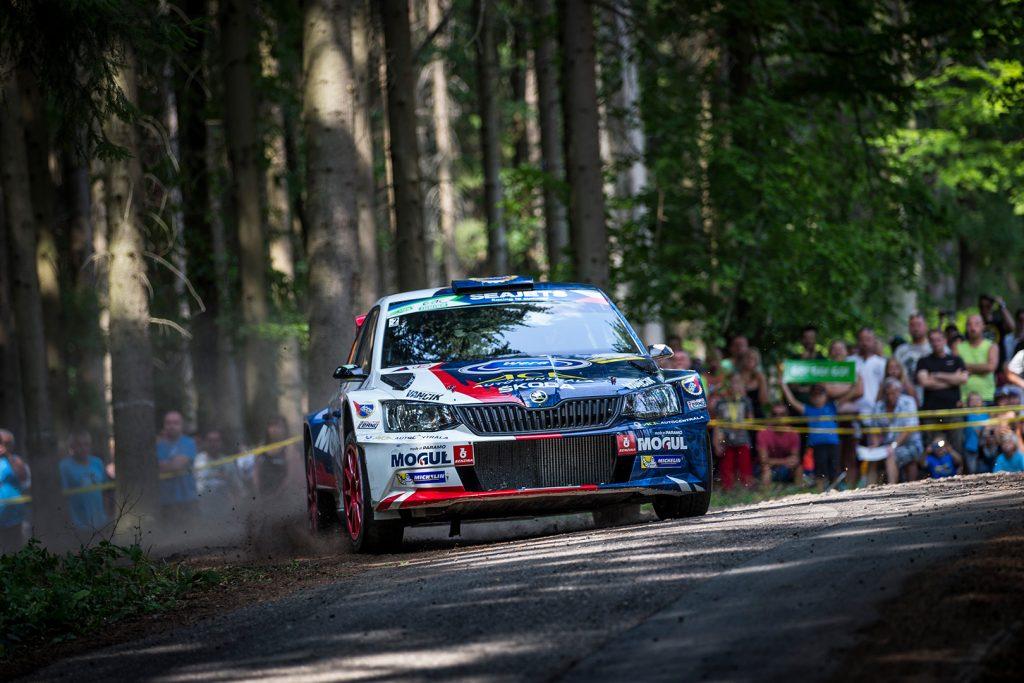 Jan Černý / Petr Černohorský jun., ŠKODA FABIA R5, ACCR Czech Team. Barum Czech Rally Zlín 2017