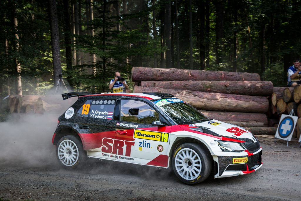 Nikolay Gryazin / Yaroslav Fedorov, ŠKODA FABIA R5, Sports Racing Technologies. Barum Czech Rally Zlín 2017