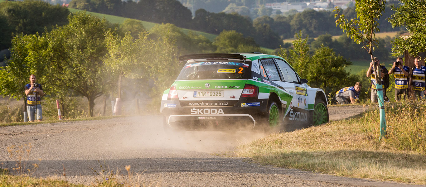 PHOTO: ŠKODA FABIA R5 cars at the Barum Czech Rally Zlín 2017